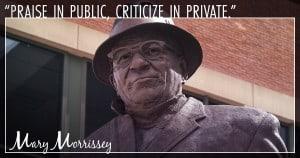 public criticism vince lombardi quote