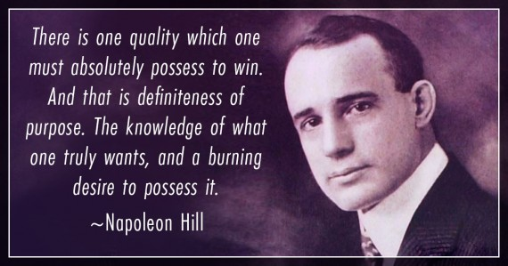 napoleon hill burning desire quote
