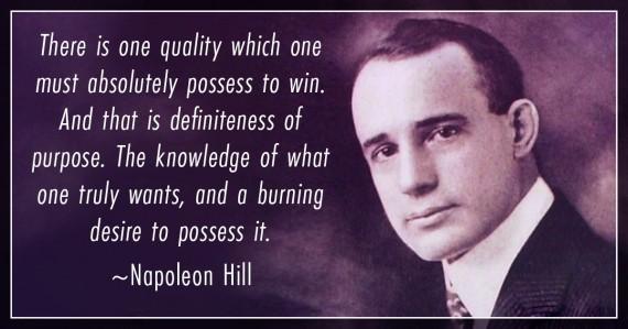 napoleon hill burning desire quote