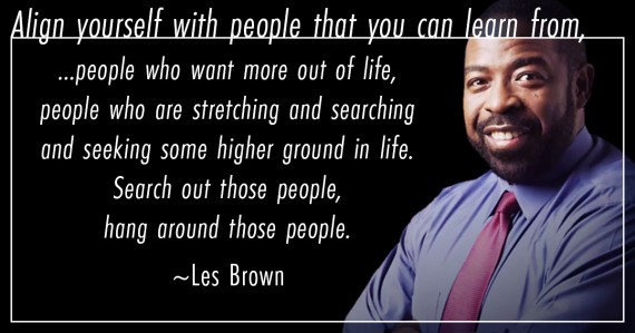 les brown quote align
