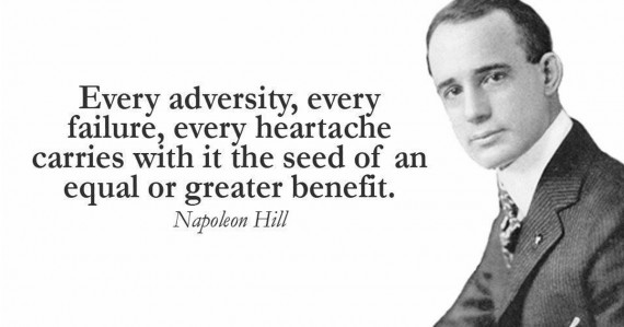 napoleon hill quote adversity
