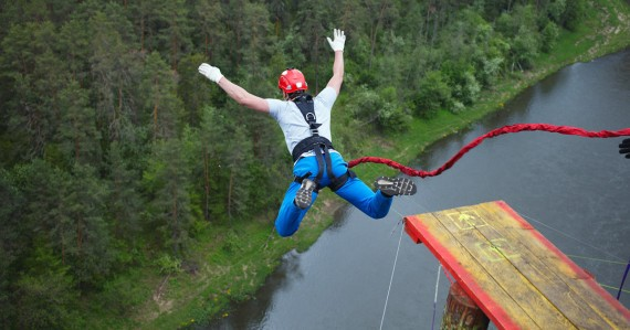 mary morrissey takes a bungee jump