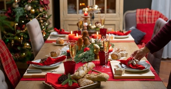 holiday family stress table