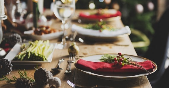 lovely holiday dinner table